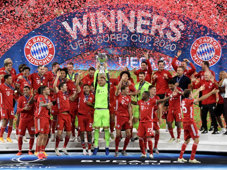 Javi Martinez snatches Super Cup glory for Bayern Munich over Sevilla - The Independent