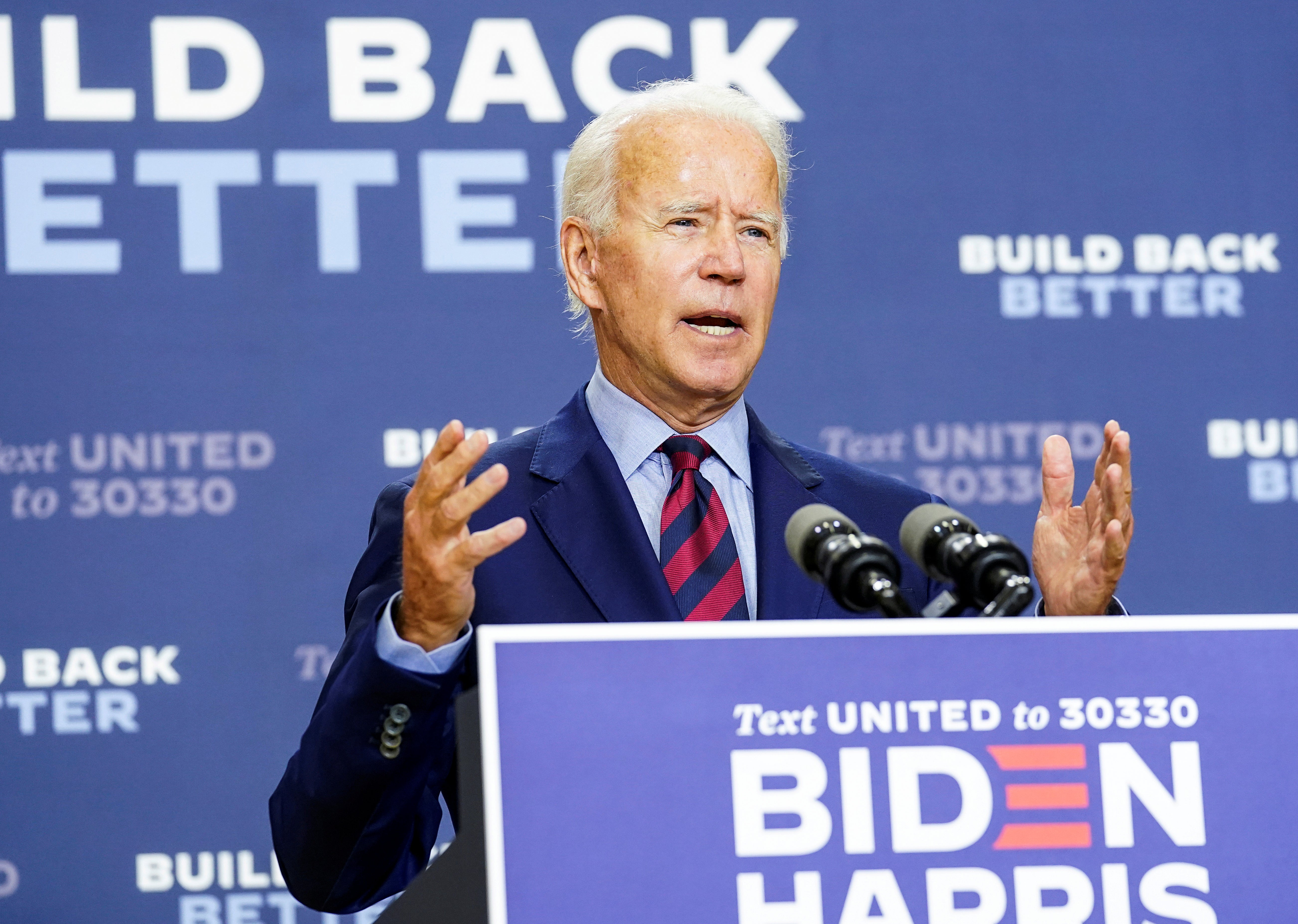 Biden warns 'outrageous' Trump voting comments could cause violence - independent