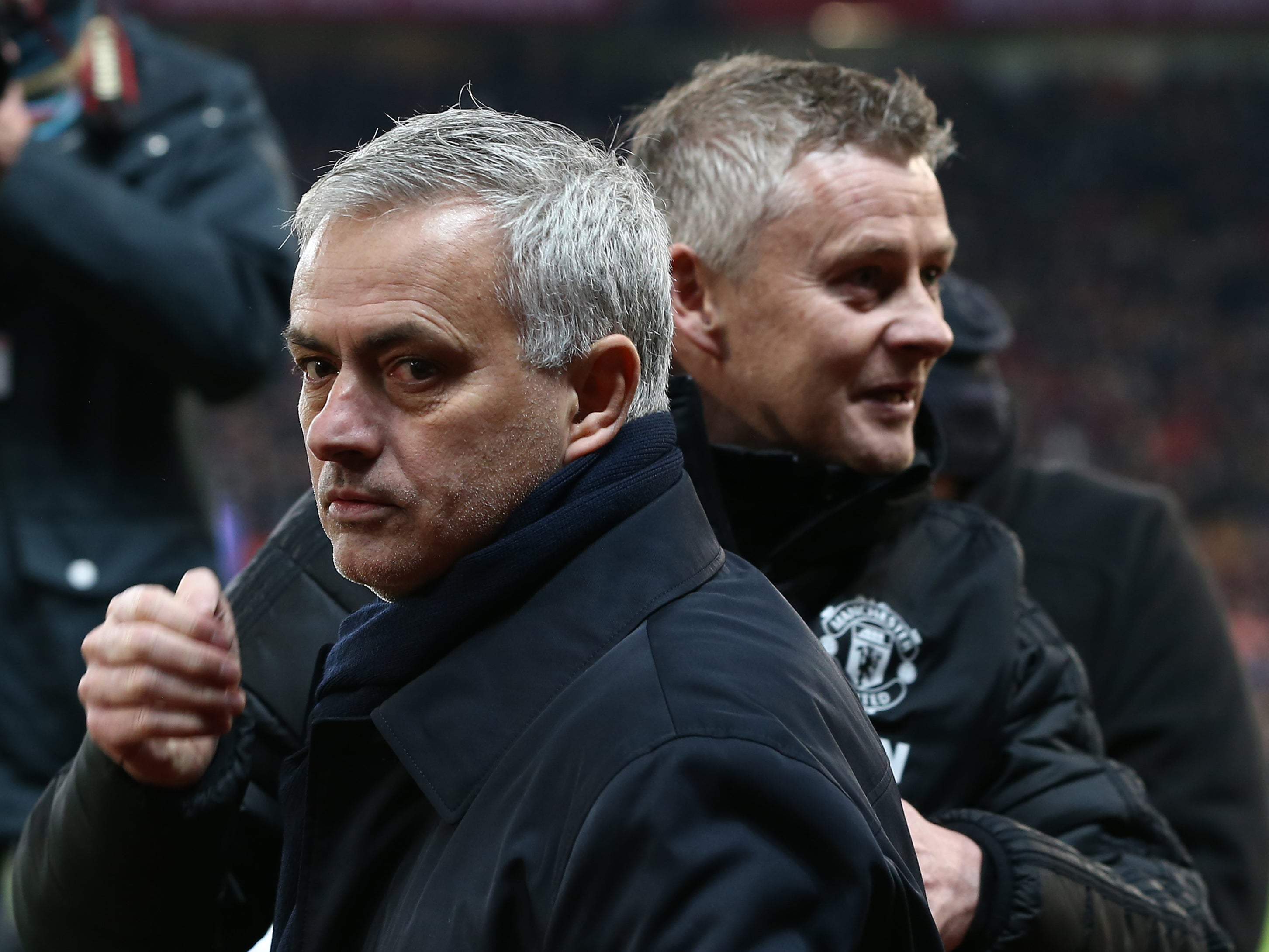 Jose Mourinho hits back at Ole Gunnar Solskjaer's goalposts joke with Manchester United penalty jibe - The Independent