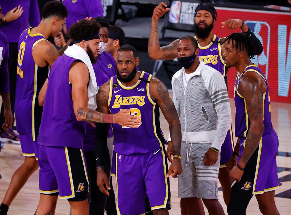 LeBron James y los Lakers estarán en la final de la NBA.