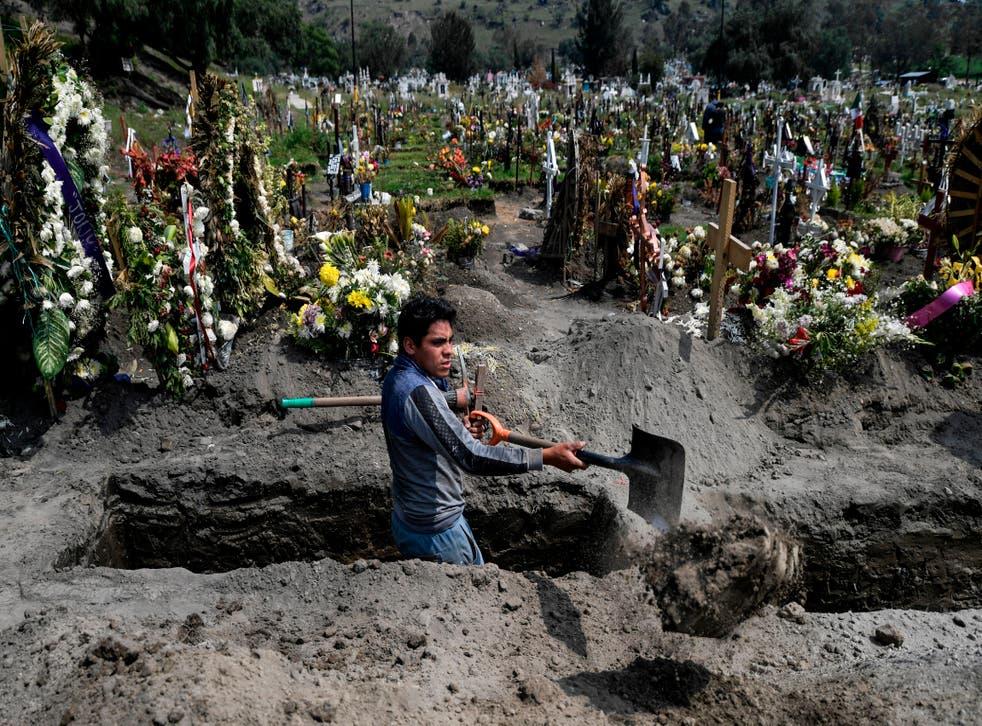 Cementerio en el Estado de México