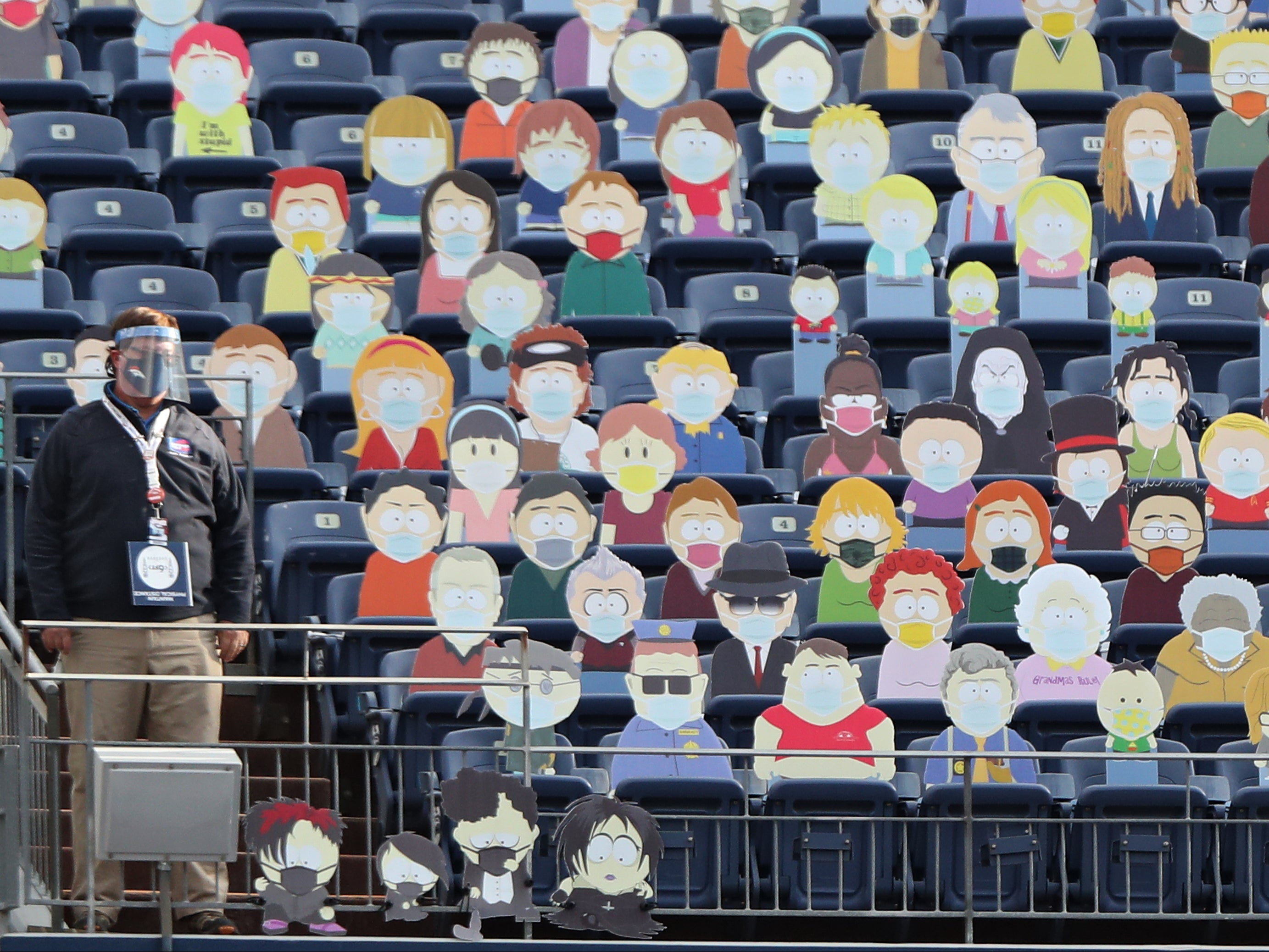 South Park characters replace stadium crowd during Denver Broncos NFL game | The Independent