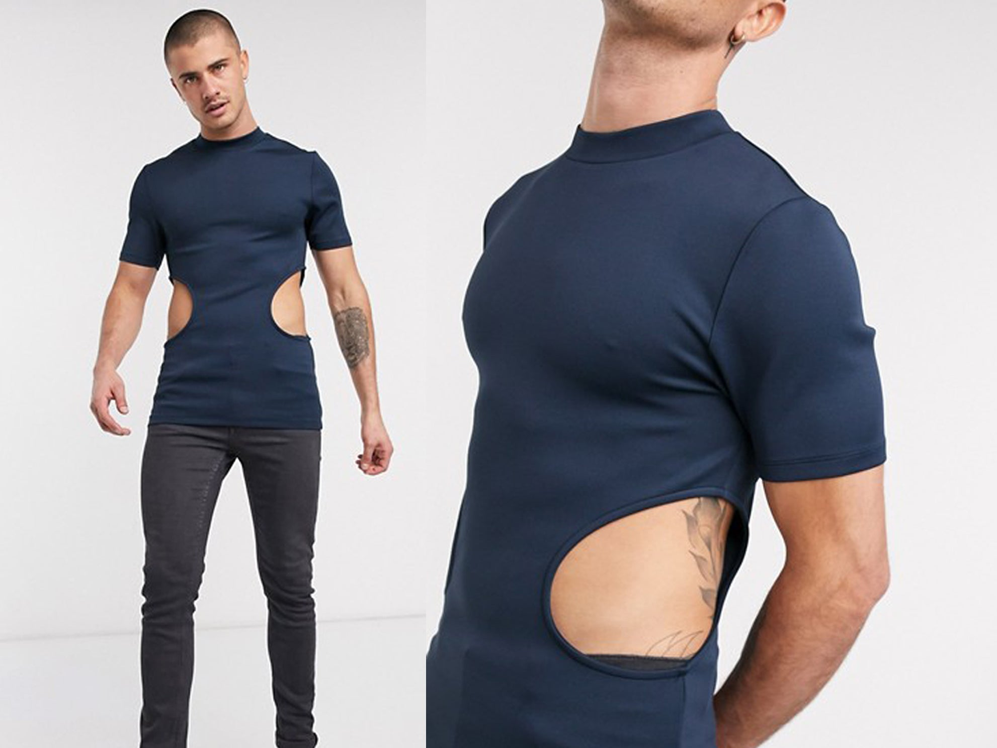 ASOS is selling a men's T-shirt with huge holes in the side and the  internet is confused | The Independent