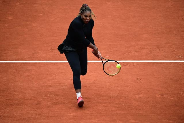 Serena Williams brilló en la primera ronda de Roland Garros.