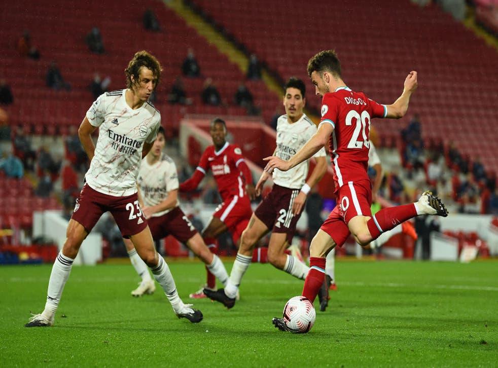 Diogo Jota se estrenó como refuerzo del Liverpool con un gol.
