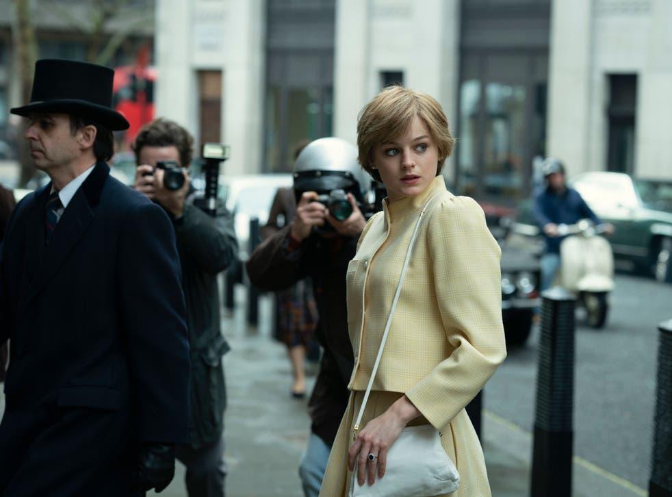 Emma Corrin plays Princess Diana in season four of 'The Crown'