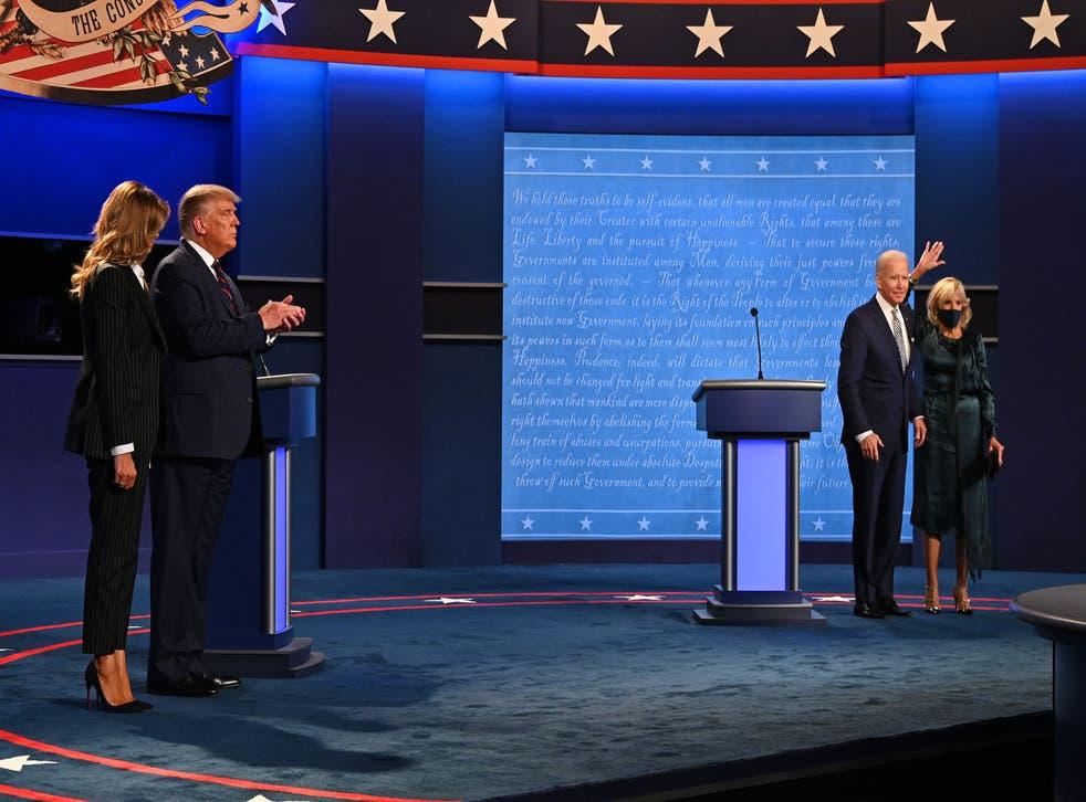 Joe Biden y Donald Trump en el primer debate presidencial.