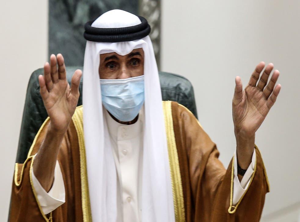 El príncipe heredero de Kuwait, el jeque Nawaf Al Ahmad Al Sabah