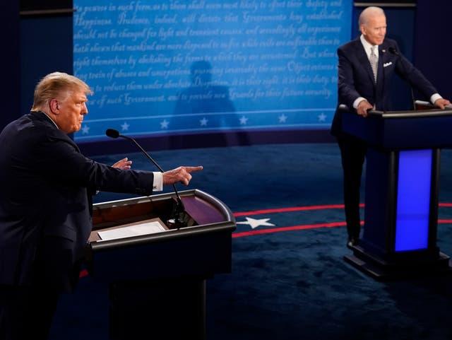 El formato de los debates sufrirá cambios para el segundo encuentro entre Trump y Biden.