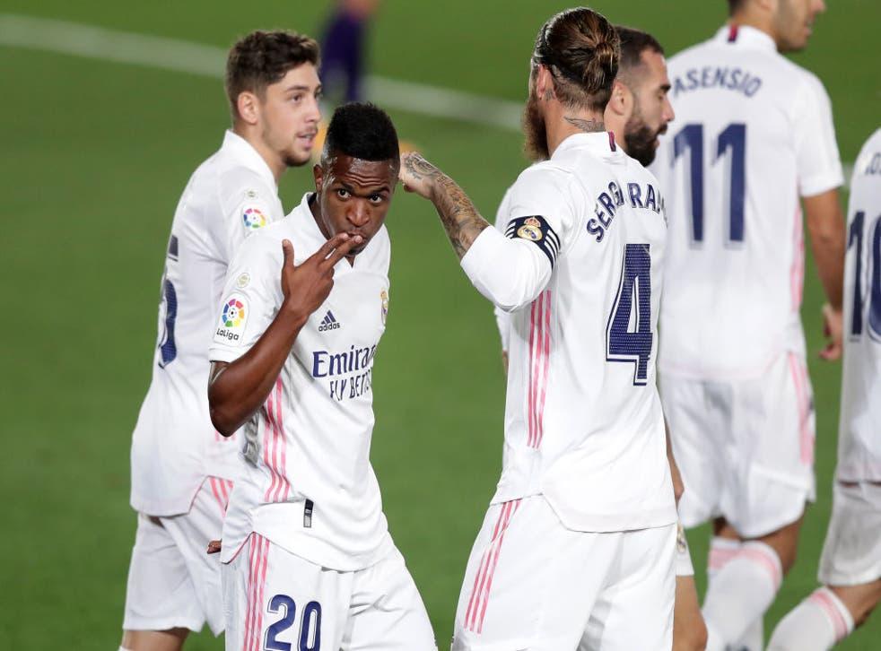 Vinícius marcó el gol de la victoria del Real Madrid.