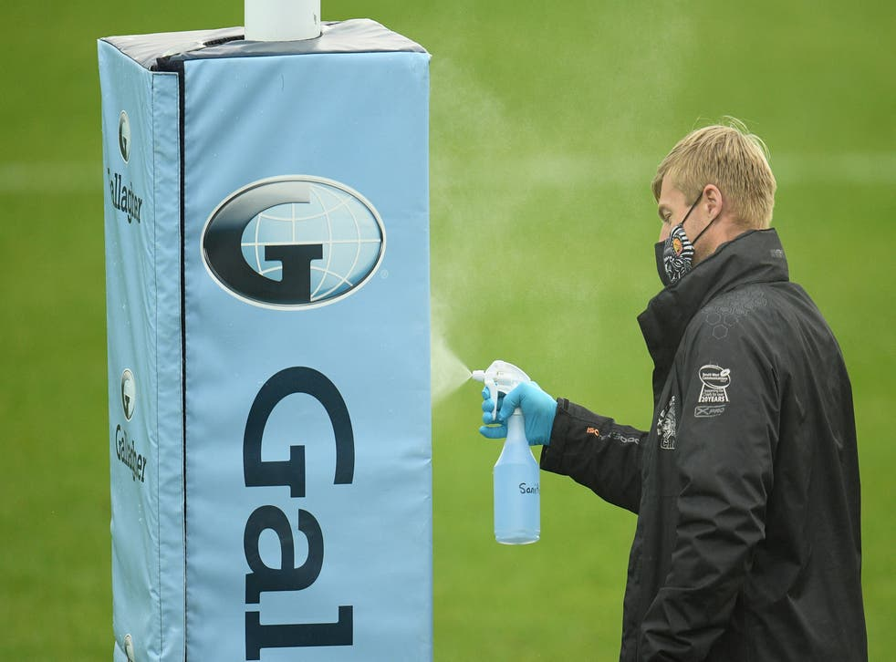Premiership Rugby is carrying out an urgent review after numerous clubs received positive coronavirus tests