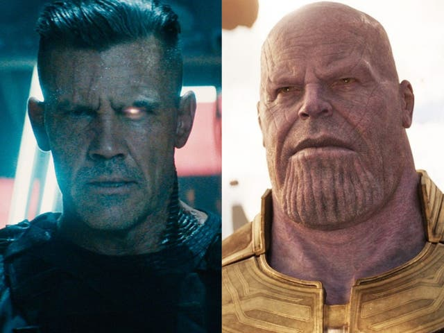 Josh Brolin as Cable in 'Deadpool 2' and Thanos in 'Avengers: Endgame'