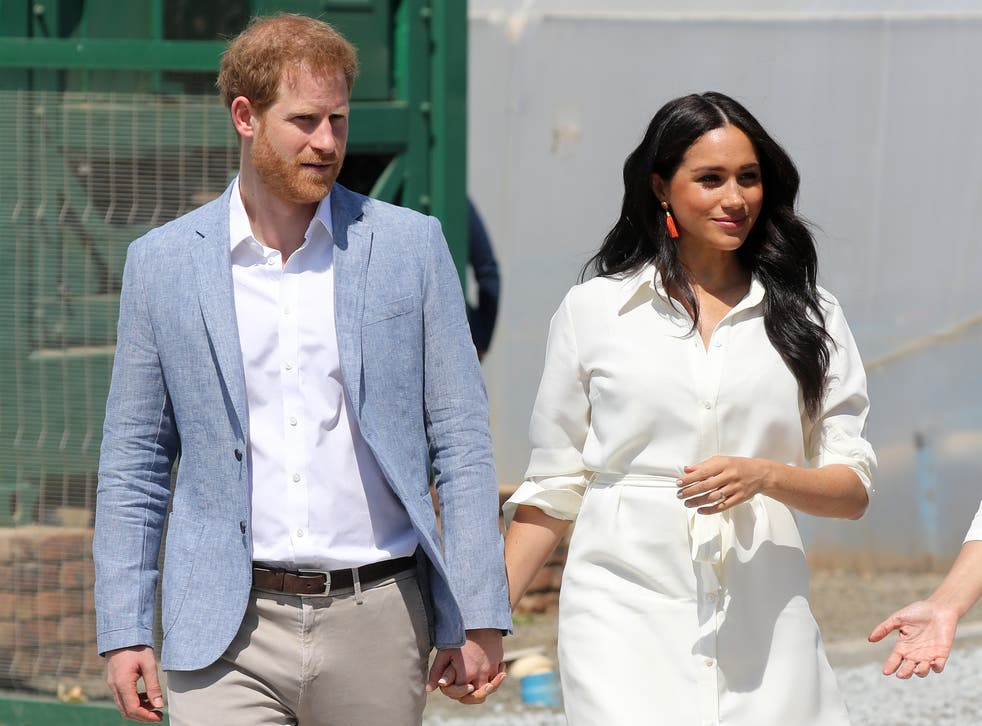 The Duke and Duchess of Sussex in Johannesburg, South Africa (2 October 2019)