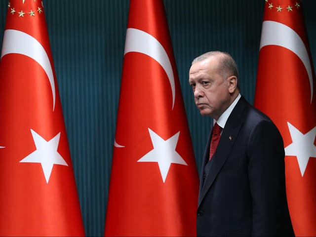 Turkish president Tayyip Erdogan criticised Gulf states last week saying 'the countries in question did not exist yesterday, but we will continue to fly our flag in this geography forever'