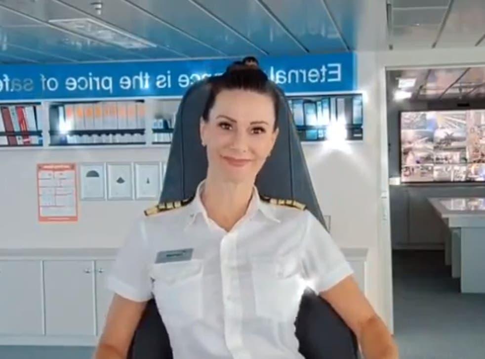 Captain Kate McCue schooled a sexist commenter