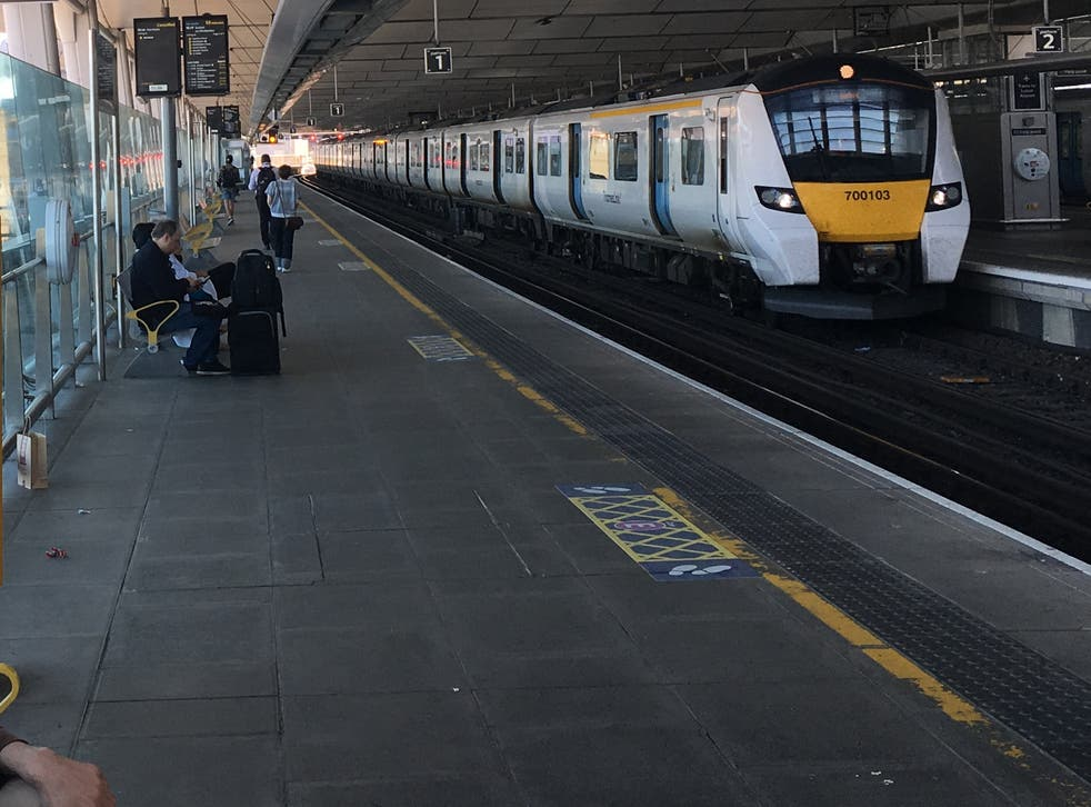 <p>Thameslink has cut some of its services</p>