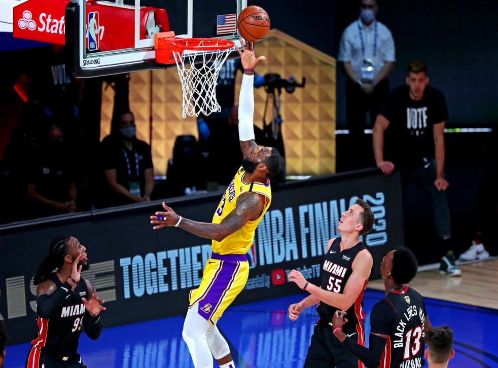 LeBron James adds two for the Lakers