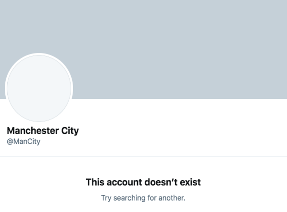Manchester City's Twitter account suddenly disappeared on Wednesday morning