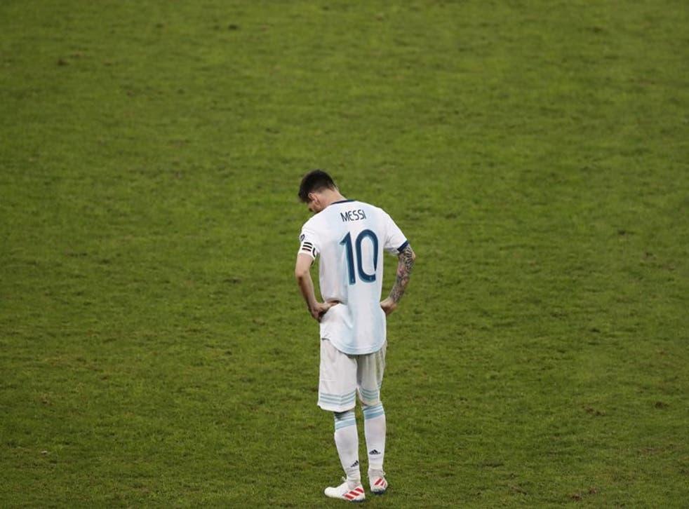 Imagen de Lionel Messi durante la semifinal contra Brasil por la Copa América, Belo Horizonte, Brasil, disputada el 2 de julio de 2019