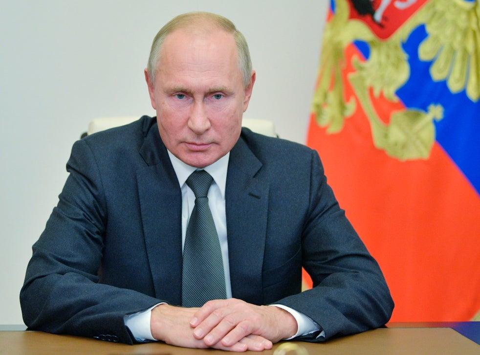 Putin Sends A Mixed Message On Us Election Hedging His Bets U S Joe Biden Vladimir Putin Russian Donald Trump The Independent