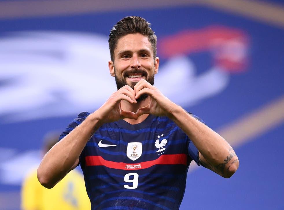 Olivier Giroud became France's second-highest goalscorer in history