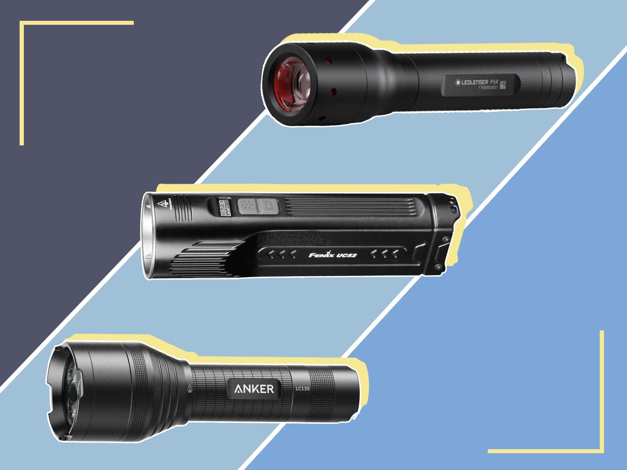 Travel Lightweight Handheld Camping Accessory Ultra Slim LED Aluminium Torch
