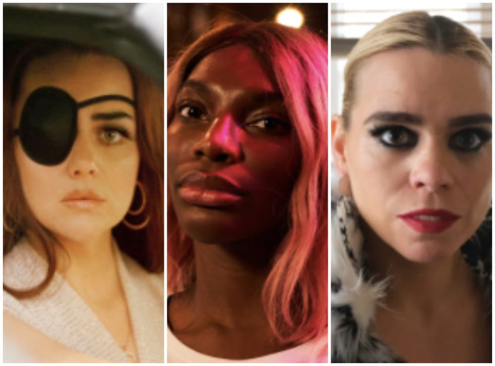 No holds barred: (from left) Hayley Squires as Jolene Dollar, Michaela Coel as Arabella, and Billie Piper as Suzie