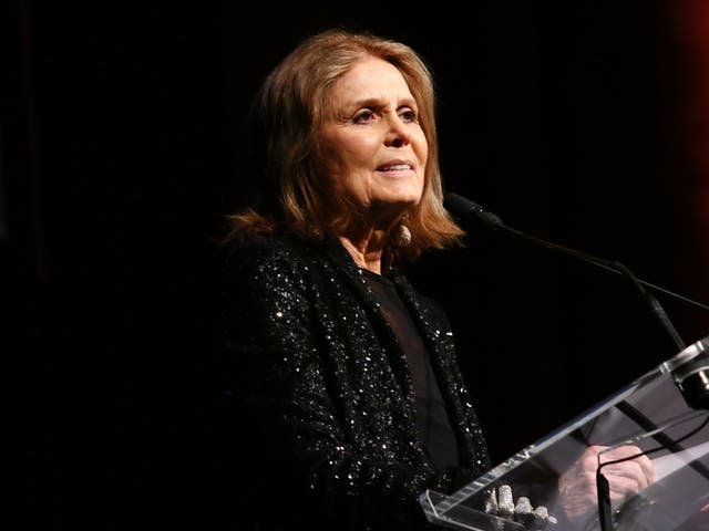 The activist speaks onstage at the 'Ms.' Foundation for Women 2017 Gloria Awards Gala