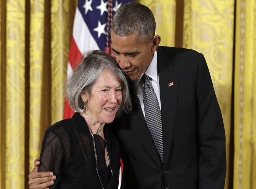 Louise Gluck y Barack Obama.