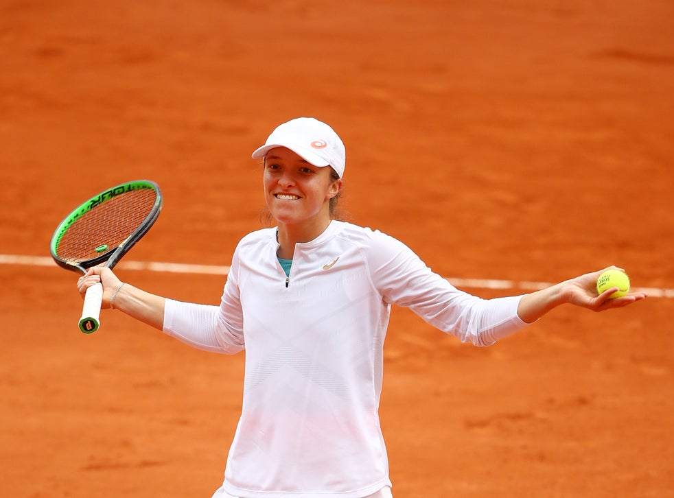 French Open results: Teenager Iga Swiatek reaches first major final with victory over Nadia Podoroska at Roland Garros | The Independent