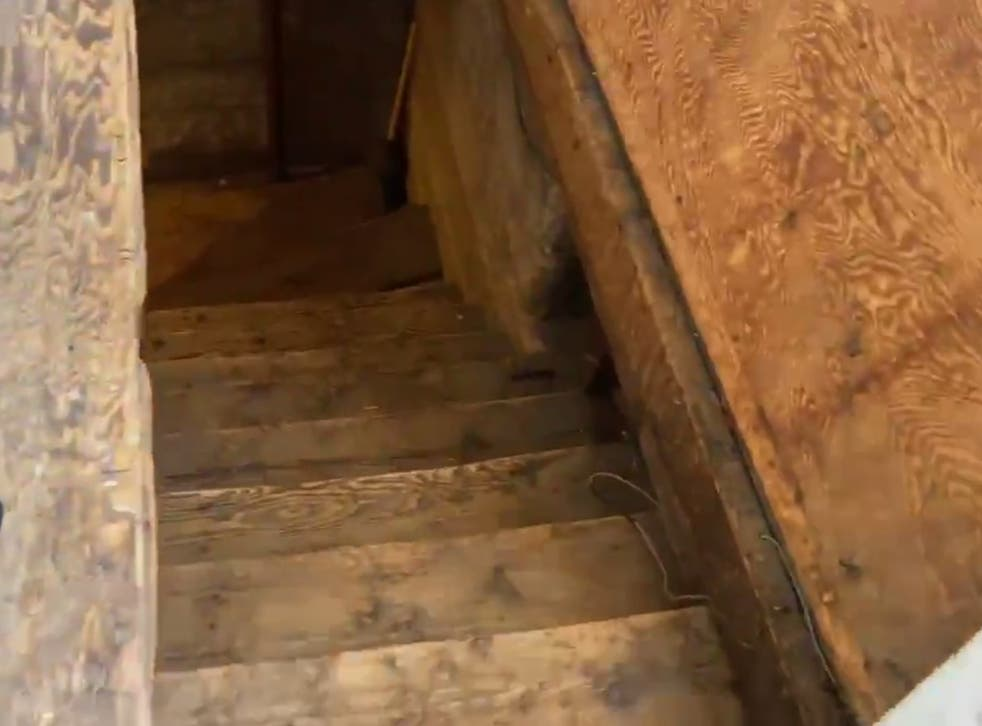 Footage of the basement that Adam Fox lived in. Mr Fox has been accused of plotting to kidnap Michigan governor Gretchen Whitmer