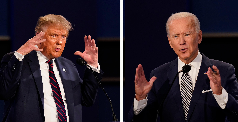 Presidential Debate Trump Defends Interrupting Biden At Least 128 Times The Independent