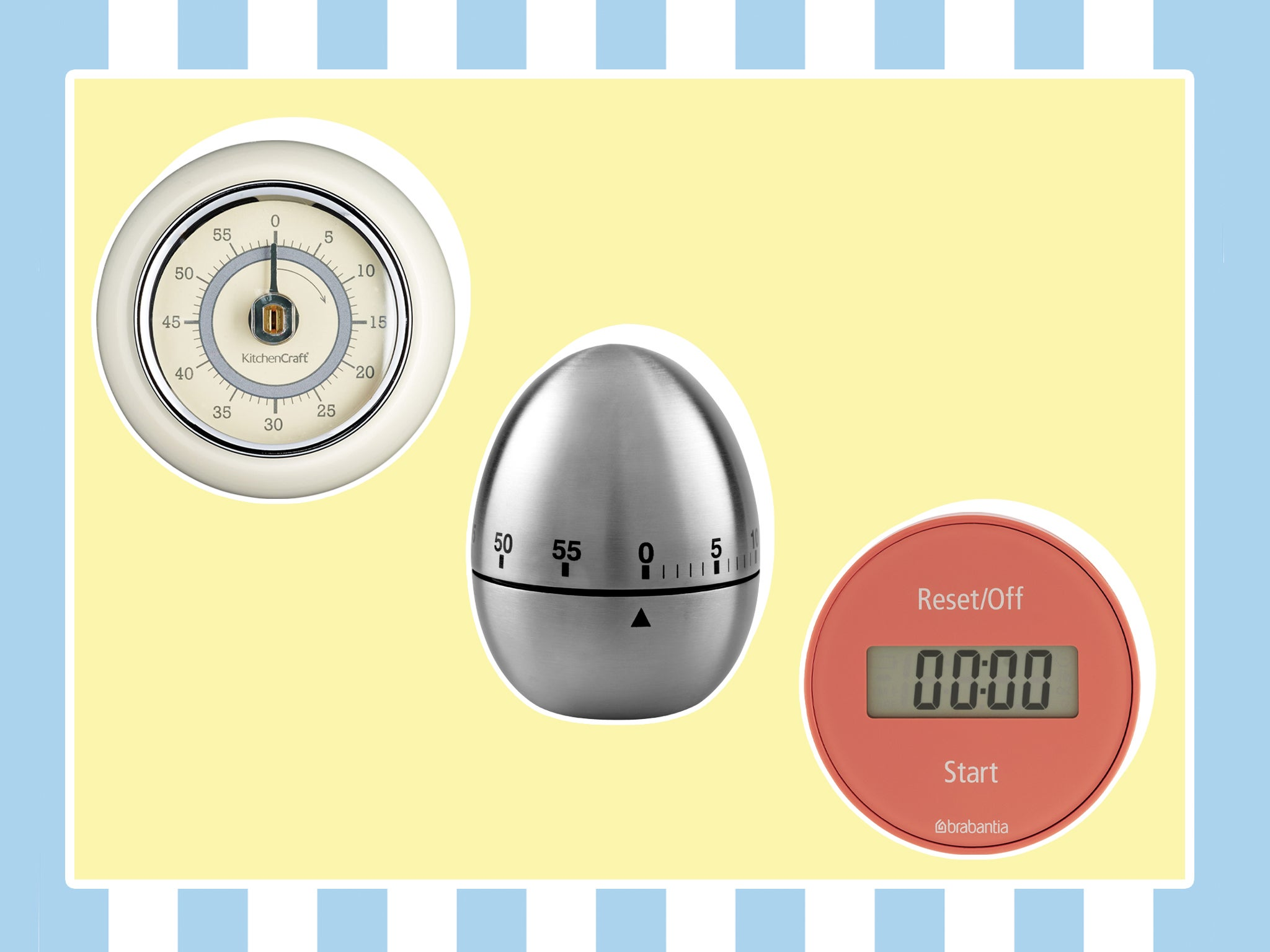 Kitchen Timer Egg-shaped Timers Stainless Steel For Home Cooking Mechanical UK