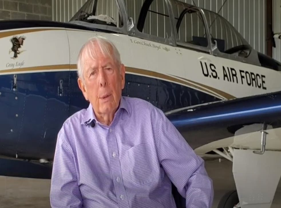 Former combat pilot is backing Joe Biden