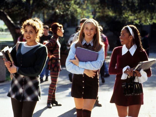 From L-R: Brittany Murphy, Alicia Silverstone and Stacey Dash in 'Clueless', which turns 25 this October