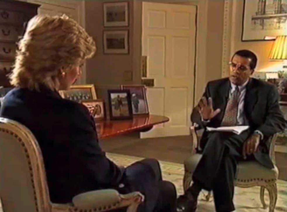 Martin Bashir interviewing Princess Diana on Panorama in 1995