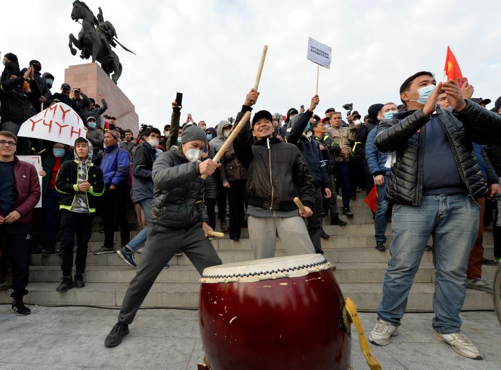 APTOPIX Kyrgyzstan Protests