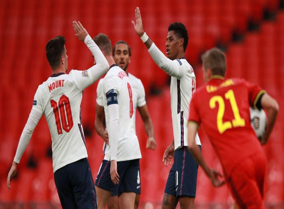 Mount and Rashford scored for England