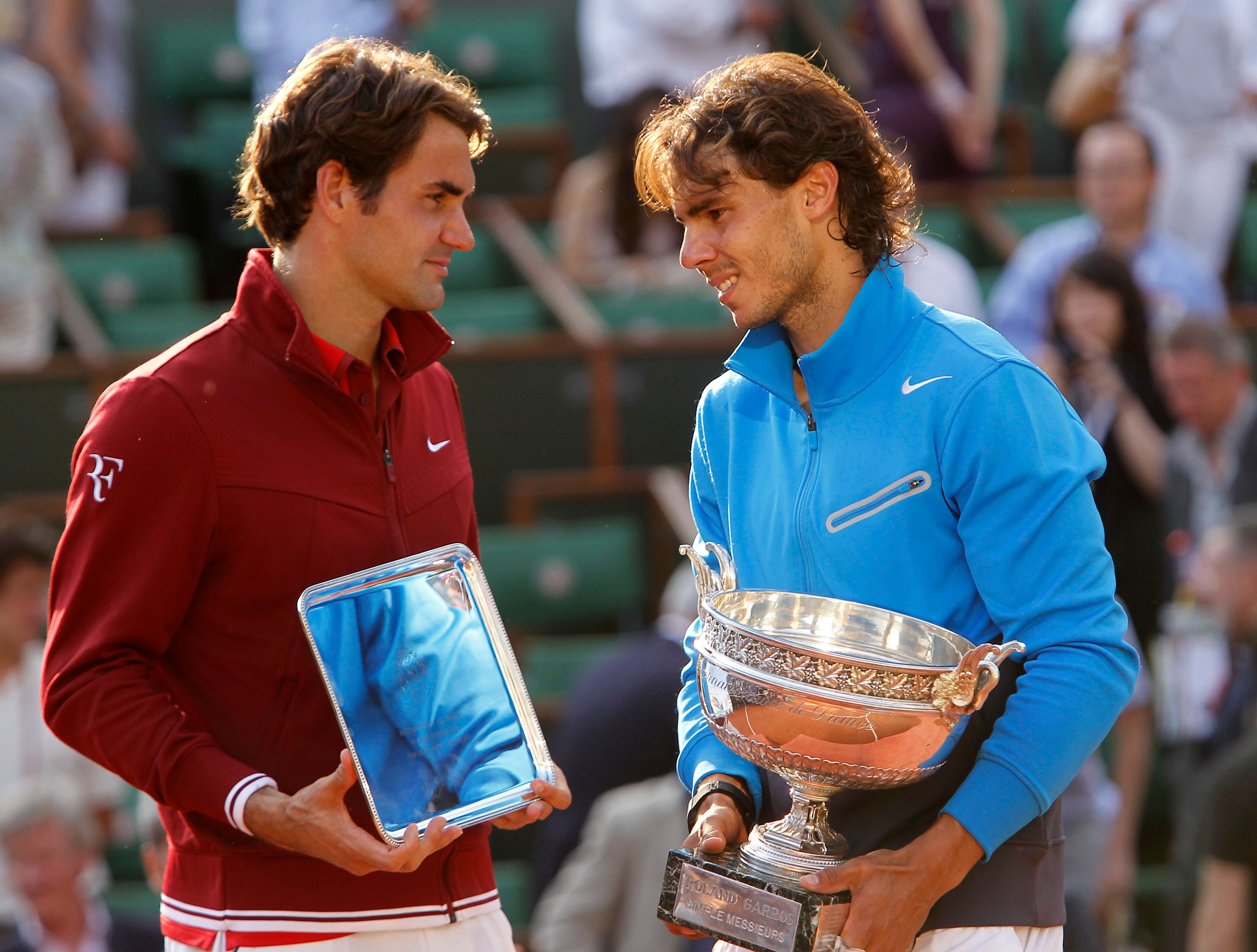 La tranquillità Organizzare Ipocrisia  Roger Federer pays tribute to 'greatest rival' Rafael Nadal after French  Open victory ties Grand Slam hauls | The Independent