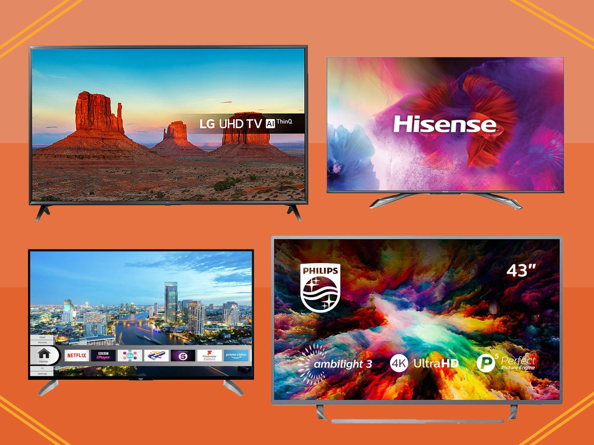 Best Amazon Prime Day Tv Deals 2020 Panasonic Lg Phillips And More The Independent