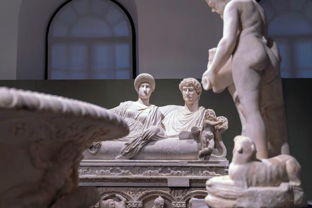 Exposición de mármol en Italia