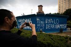 La Ciudad de México retira una estatua de Cristóbal Colón