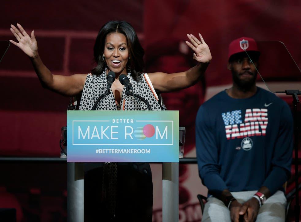 Michelle Obama LeBron James