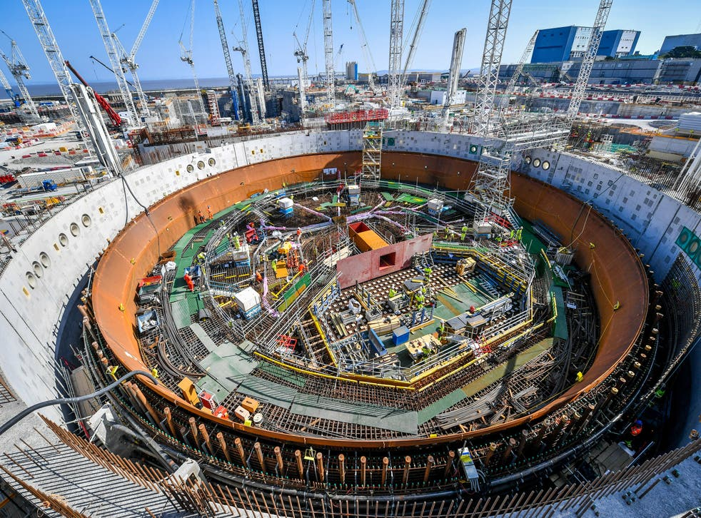 <p>Construction of Hinkley Point C nuclear power station is currently under way</p>
