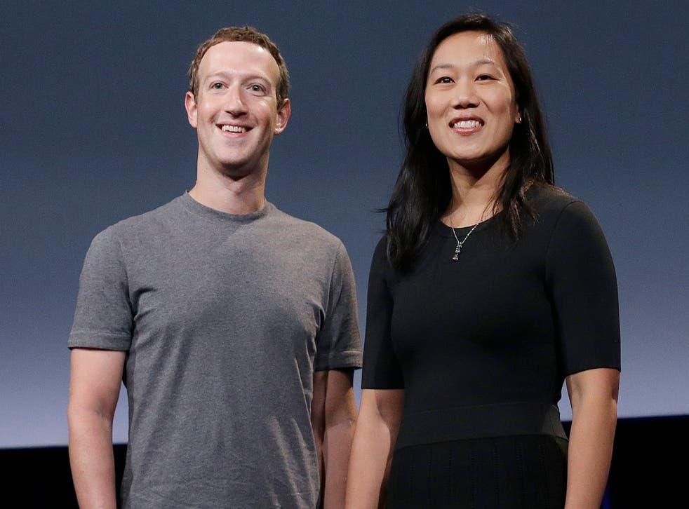 <p>Mark Zuckerberg y &nbsp;su esposa Priscilla Chan</p>