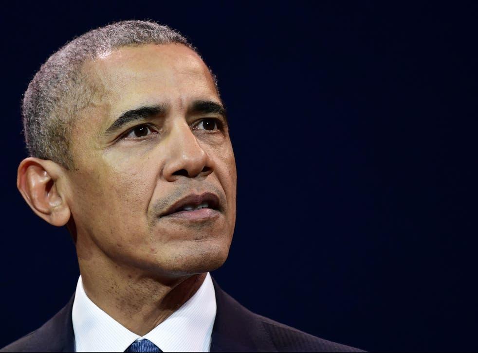 El ex presidente de Estados Unidos, Barack Obama, habla en una innovadora conferencia de comunicaciones organizada por el grupo de la red Les Napoleons