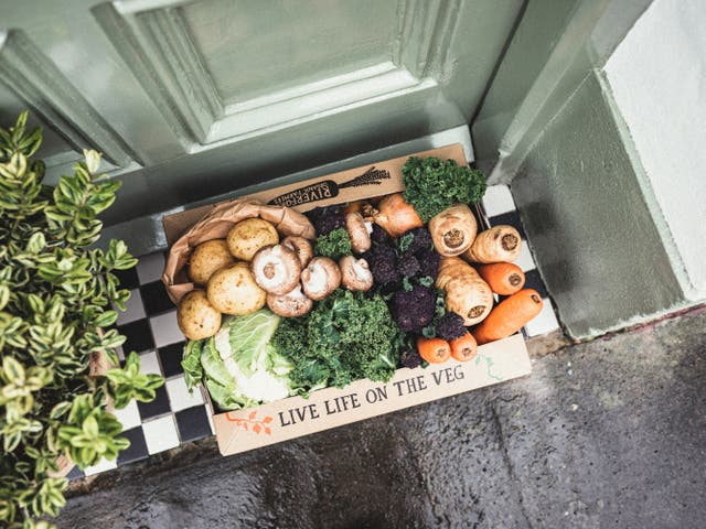 Sales of vegetable boxes have soared during lockdown