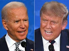 Trump and Biden to face off in rival live televised events