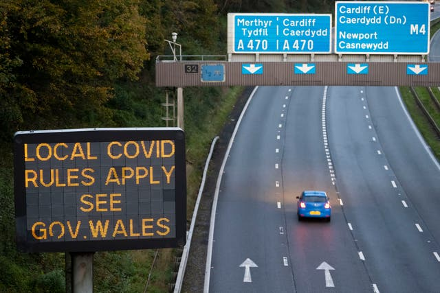 Travellers are not allowed into Wales