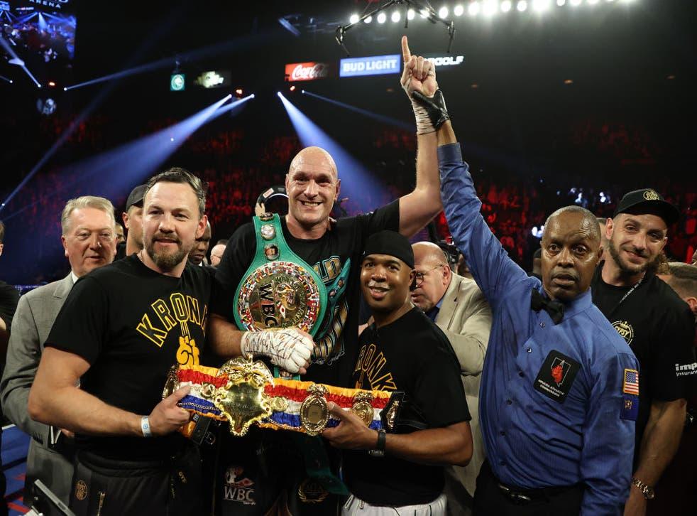 Fury arrebató el cinturón del CMB que tenía Wilder al noquearle en el séptimo asalto de la revancha que protagonizaron en Las Vegas en febrero.
